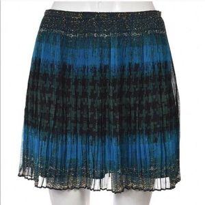 Madewell Broadway & Broome Pleated Teal Skirt 2